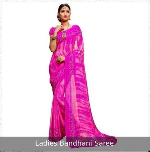 Trendy Design Ladies Bandhani Saree