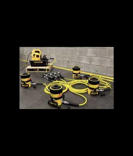 Yellow Electric Hydraulic Jack