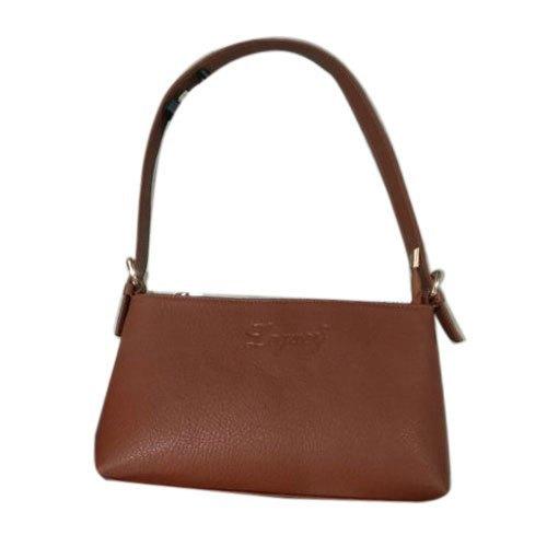 Brown Plain Rexine Ladies Bag