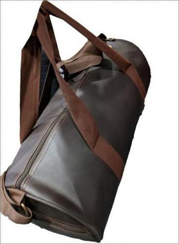 Brown Rexine Gym Bag
