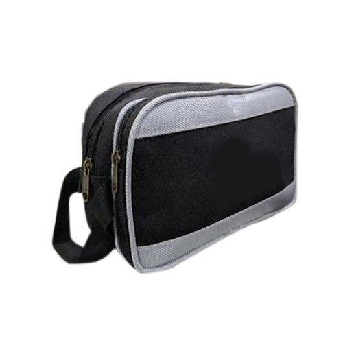 Grey And Black Cash Bag