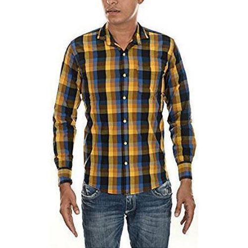Mens Full Sleeve Formal Check Shirt