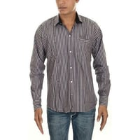 Mens Full Sleeve Striped Cotton Shirt
