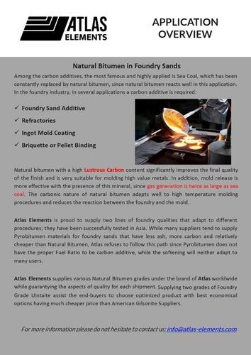 Natural Bitumen in Foundry Sands