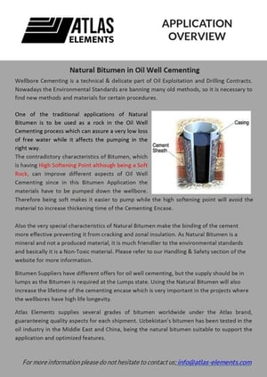 Natural Bitumen in Oil Well Cementing