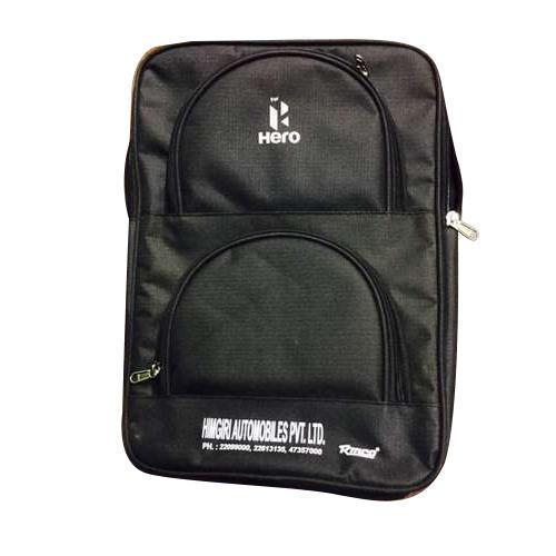 Plain Black Laptop Bagpack