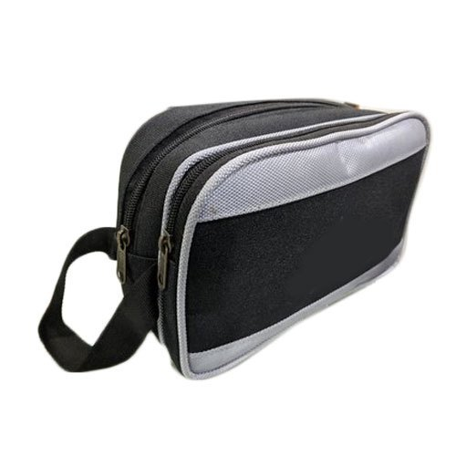 Plain Grey And Black Cash Bag