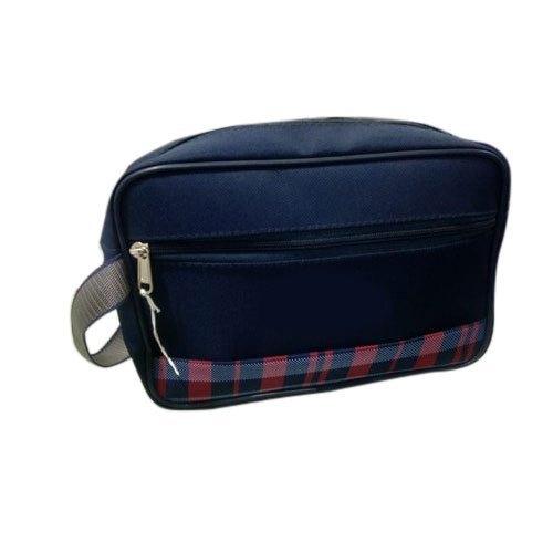 Polyester Zipper Blue Cash Bag