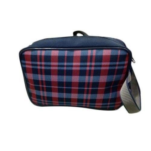 Printed Polyester Zipper Cash Bag