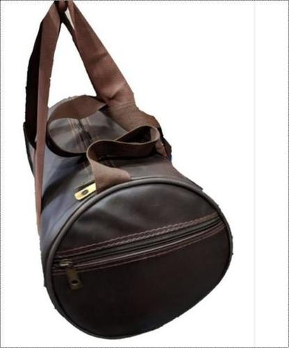 Rexine Brown Gym Bag