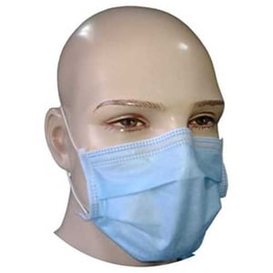 2 Ply Disposable Blue Face Mask For Safety