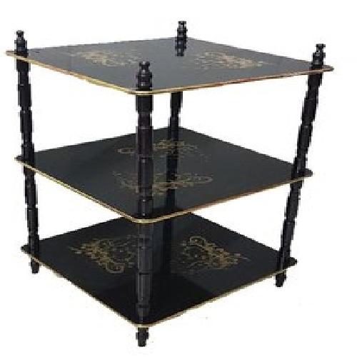3 Shelf Wooden Side Table