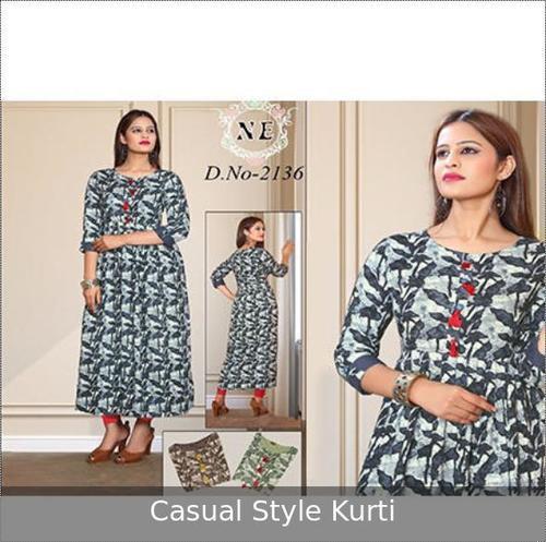 Casual Wear Printed Ladies Kurti