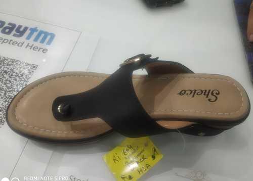 Ladies Casual Black Slipper