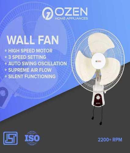 White Colored Wall Fan 400mm