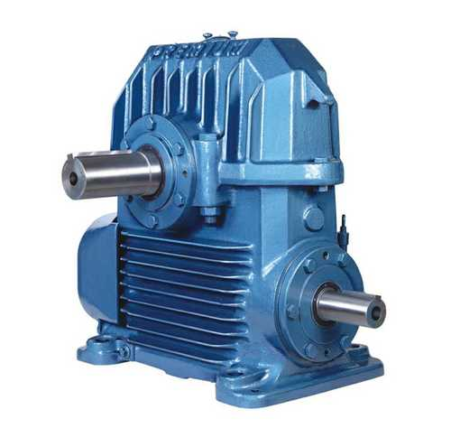 Blue Worm Gear Box For Industrial Use