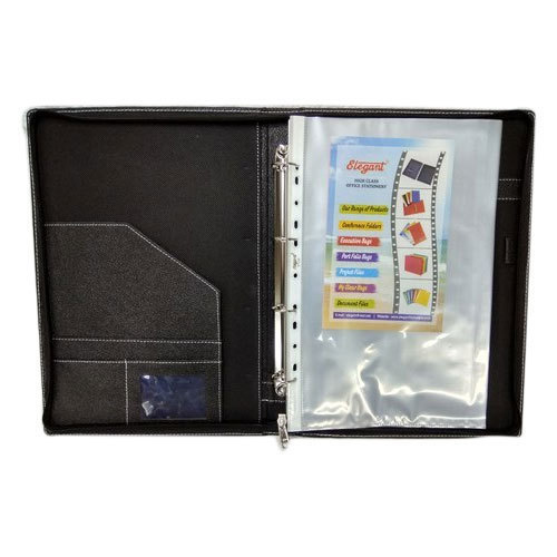 Light Weight Leatherette Black Executive File Folder
