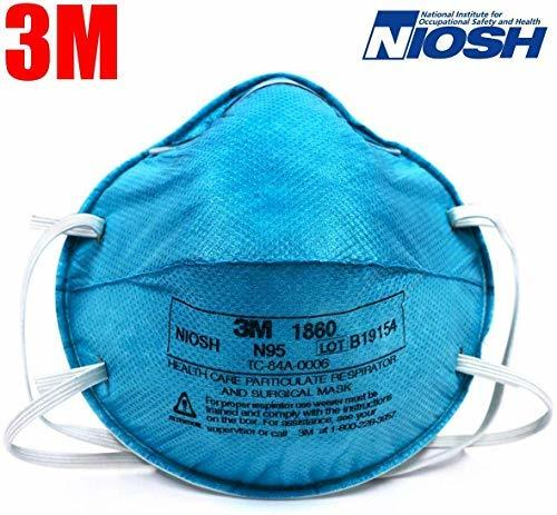 3M 1860 N95 NIOSH Approved Medical Surgical Face Mask