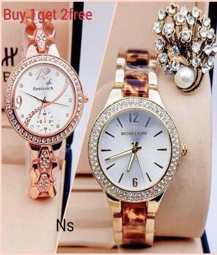 Ladies Designer Wrist Watch Combo