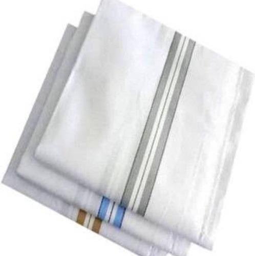 White Color Cotton Mens Handkerchief