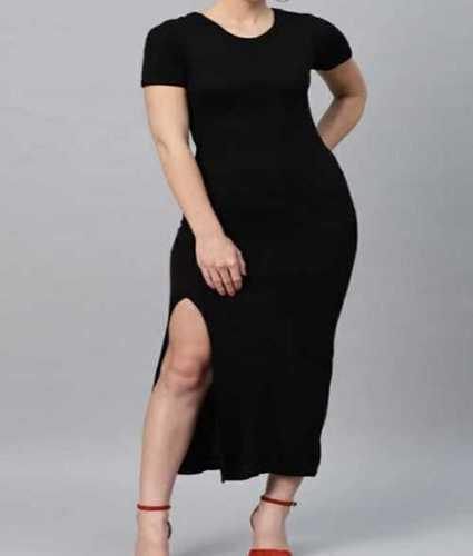 Ladies Black Color Gown