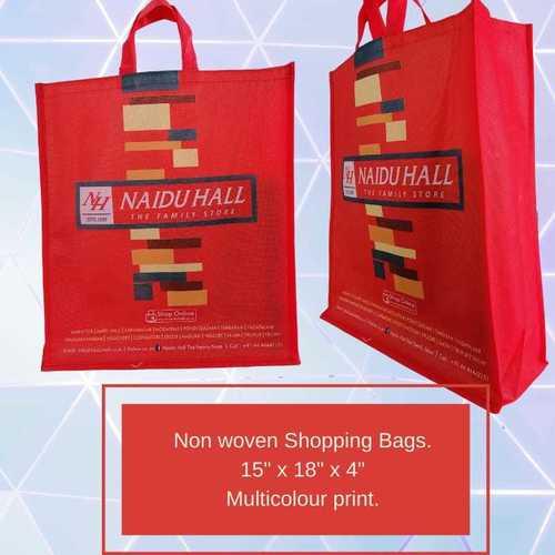 Multicolour Print Non Woven Red Bags