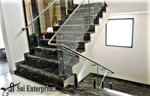 Staircase Glass And Steel Railings