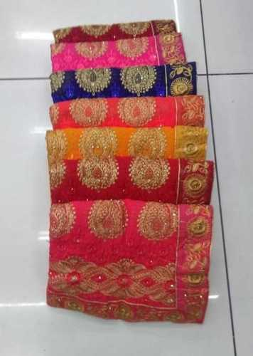 Bridal Saree With Embroidery Work