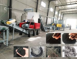 PLC Controlled Electric Rubber Tire Recycling Machine
