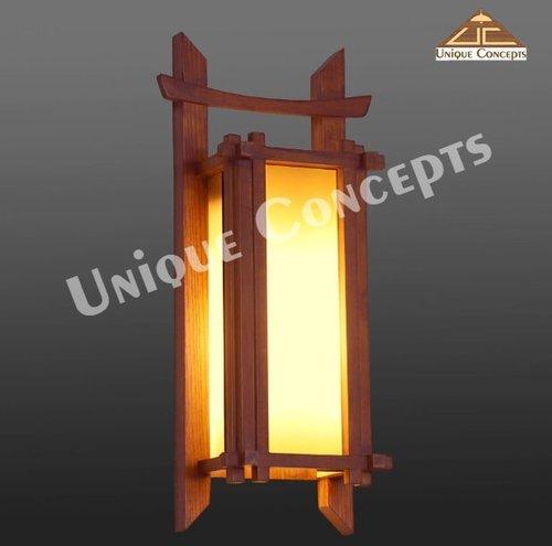 Wooden Wall Mounted Light