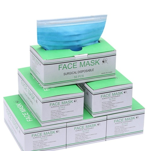 3 Ply Disposable Non Woven Blue Earloop Virus Protection Face Mask