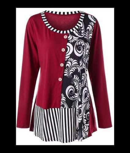 Causal Wear Cotton Ladies Top