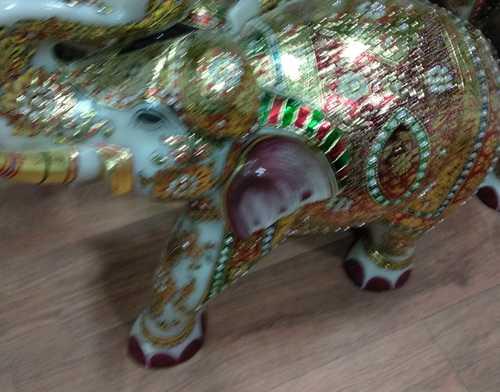 Elegant Look Marble Handicraft Elephant