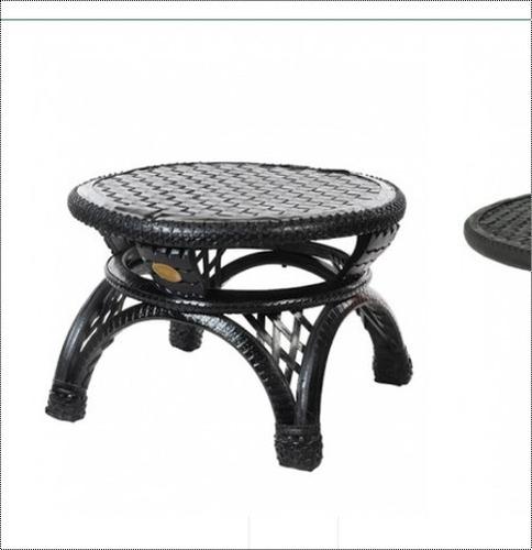 Round Shape Coffee Black Table