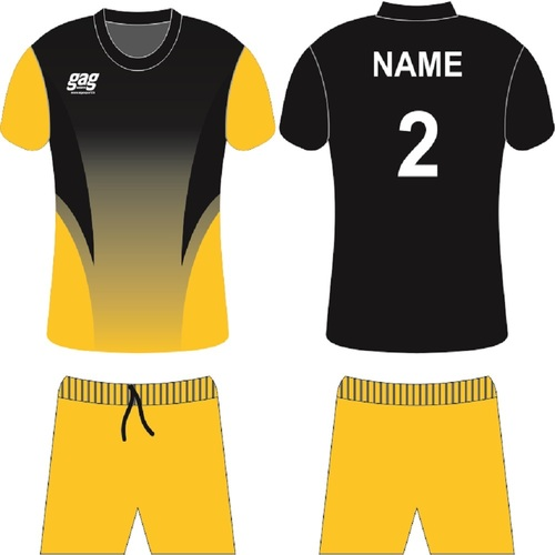 Black And Yellow Soccer Jersey Set
