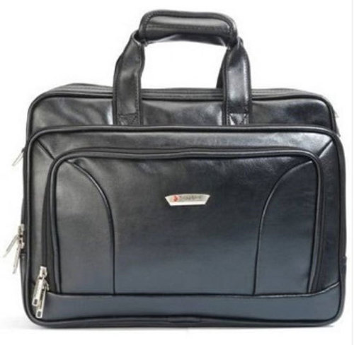 Executive Black Leather Bag