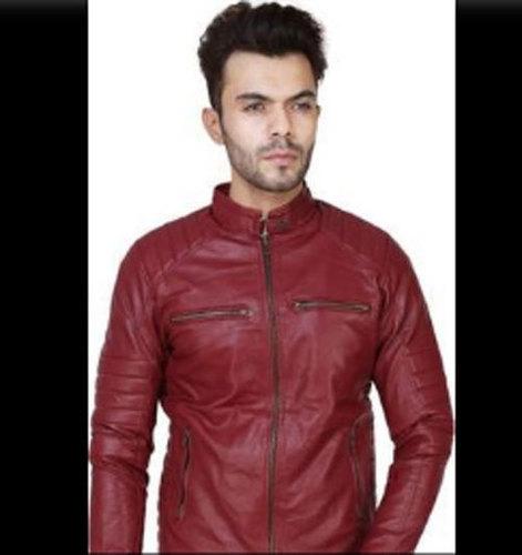 Mens Regular Fit Leather Jackets