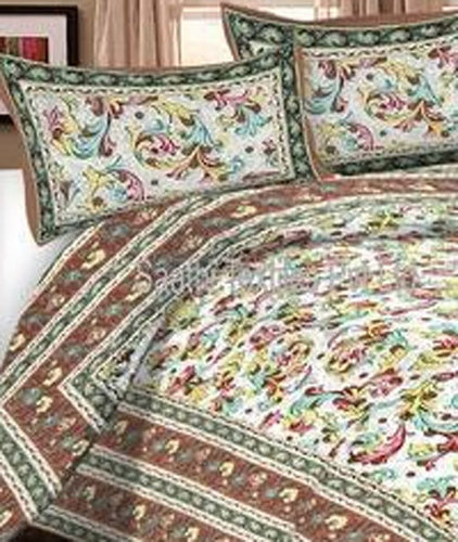 Cotton Double Bed Sheets (90x108 Inches)