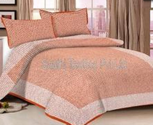 Cotton Double Bed Sheets With 2 Pillow Cover