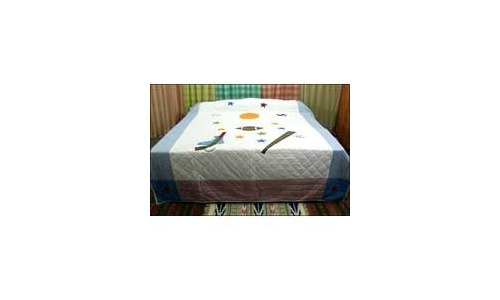 Cotton Patchwork Quilted Bedspread