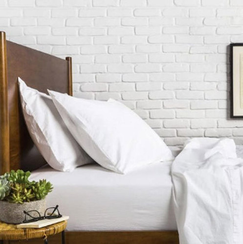 Hotel White Percale Pillow Cover