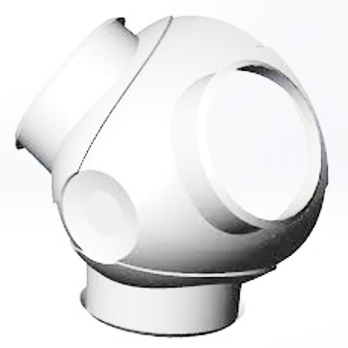 White Windmill Nacelle Cover