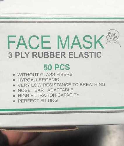 3 Ply Non Woven Disposable Face Mask