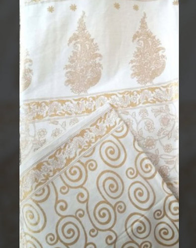 Cotton Gold Printed Bed Sheet