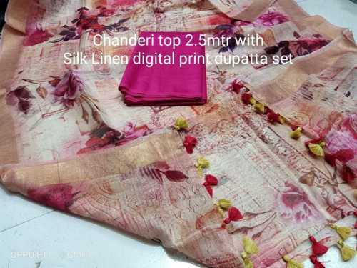 Digital Linen Dress Material