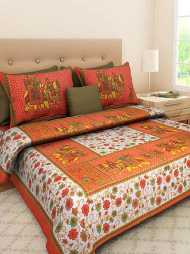 Double Baarat Print Bed Sheet