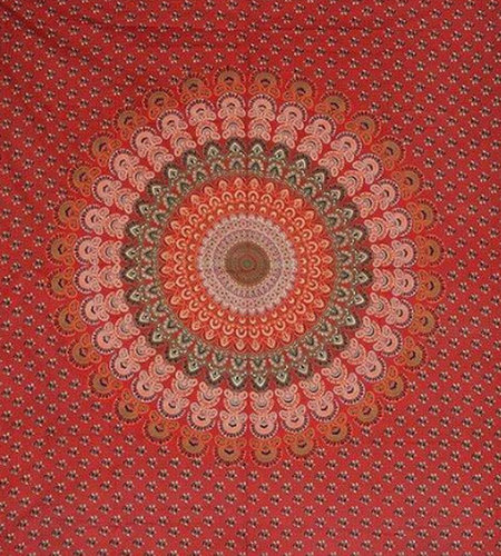 Fine Finish Barmeri Mandala Printed Bed Sheet