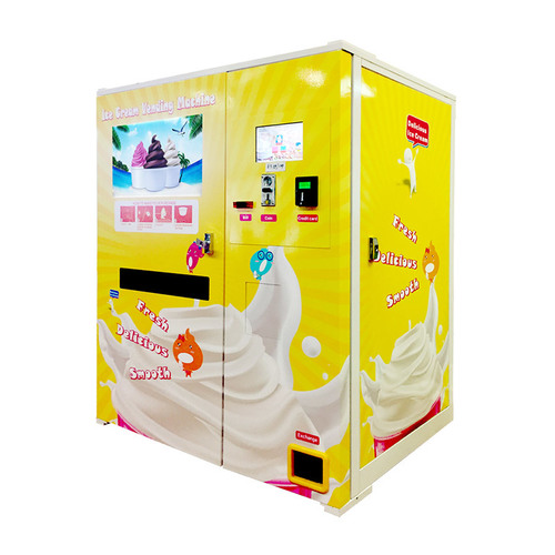 Hommy High Quality Commercial Auto Ice Cream Vending Machine For Hotel