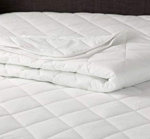 Pure Cotton White Quilted Mattress Protector