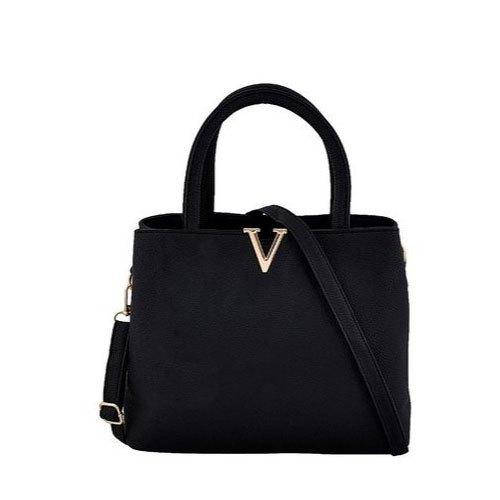 Impeccable Finish Ladies Black Handbag